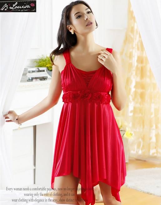 gambar Baju Tidur Lingerie SL843 Merah