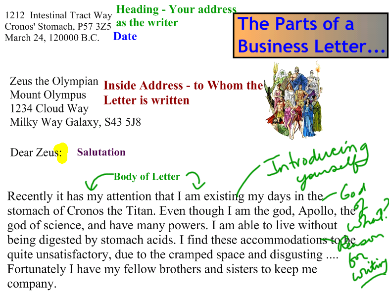 Business Letter To Zeus Persuasive Letter to Zeus