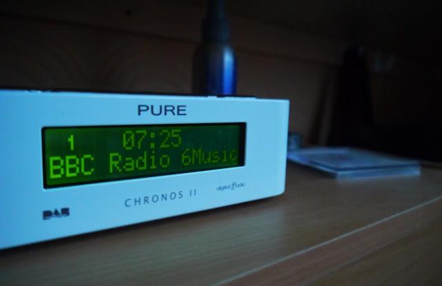 Clock radio playing 6 Music