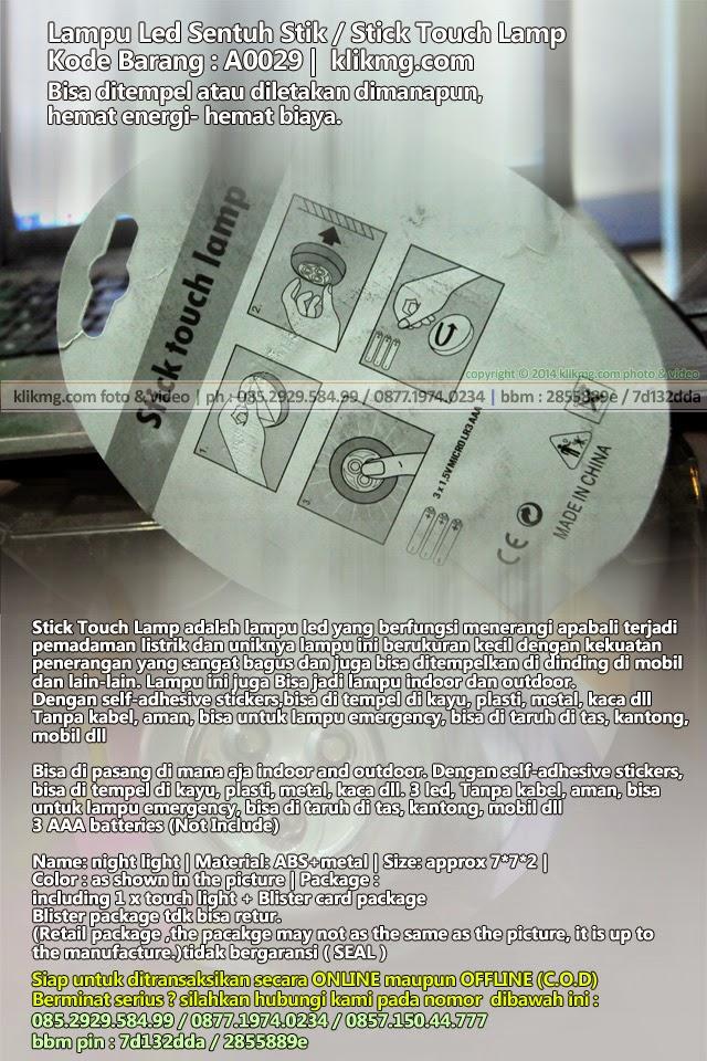 Lampu Led Sentuh Stik / Stick Touch Lamp - Kode Barang : A0029 | Bisa ditempel atau diletakan dimanapun, hemat energi- hemat biaya.