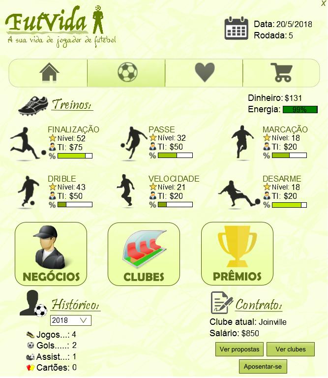 FutVida - A sua vida de jogador de futebol Screen_futvida2