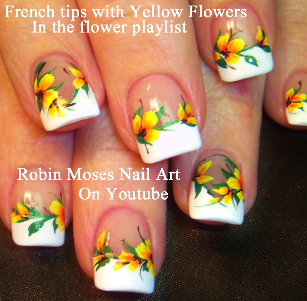 Yellow Nail Art Designs to