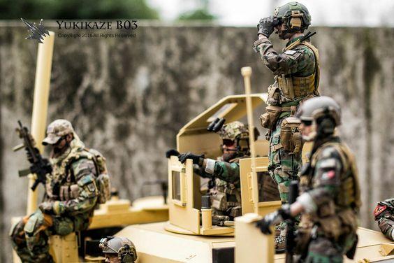 Figurines militaires et dioramas au 1/6