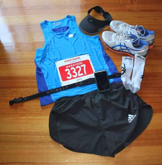 My race day kit for the Melbourne Marathon