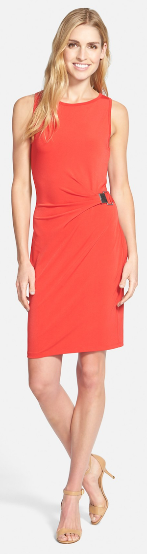 MICHAEL Michael Kors Sleeveless Drape Front Jersey Dress