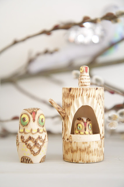 Nesting doll owls; Baby nursery; Nursery in the Nest; Nora's Nest