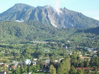 The beauty Sibayak Mountain