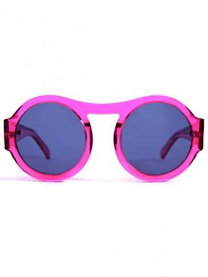 Neon Pink Octagon Sunglasses