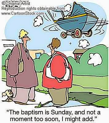The baptism is Sunday and not a moment too soon