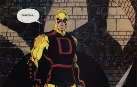 Cena da história em quadrinhos Demolidor: Amarelo