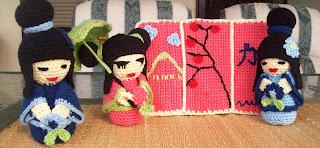kokeshi dolls crochet
