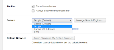 Change Linux Mint custom search in Chromium