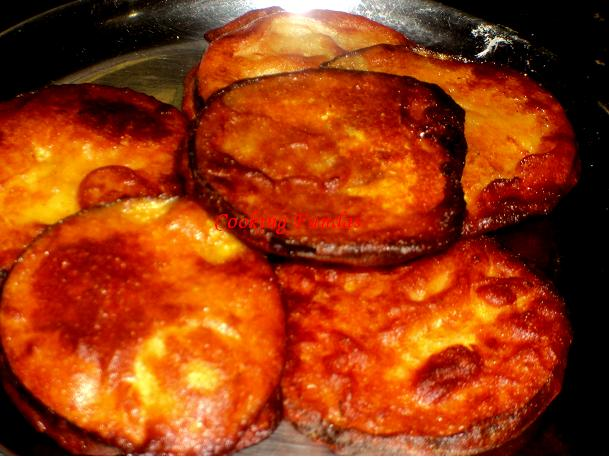 Cooking fundas baigani eggplant fritters baigani is an brinjaleggplant fritters a famous tea time snack and also used as a side dish thosewho dont think baiganbrinjal as tastiest of thecheapjerseys Image collections
