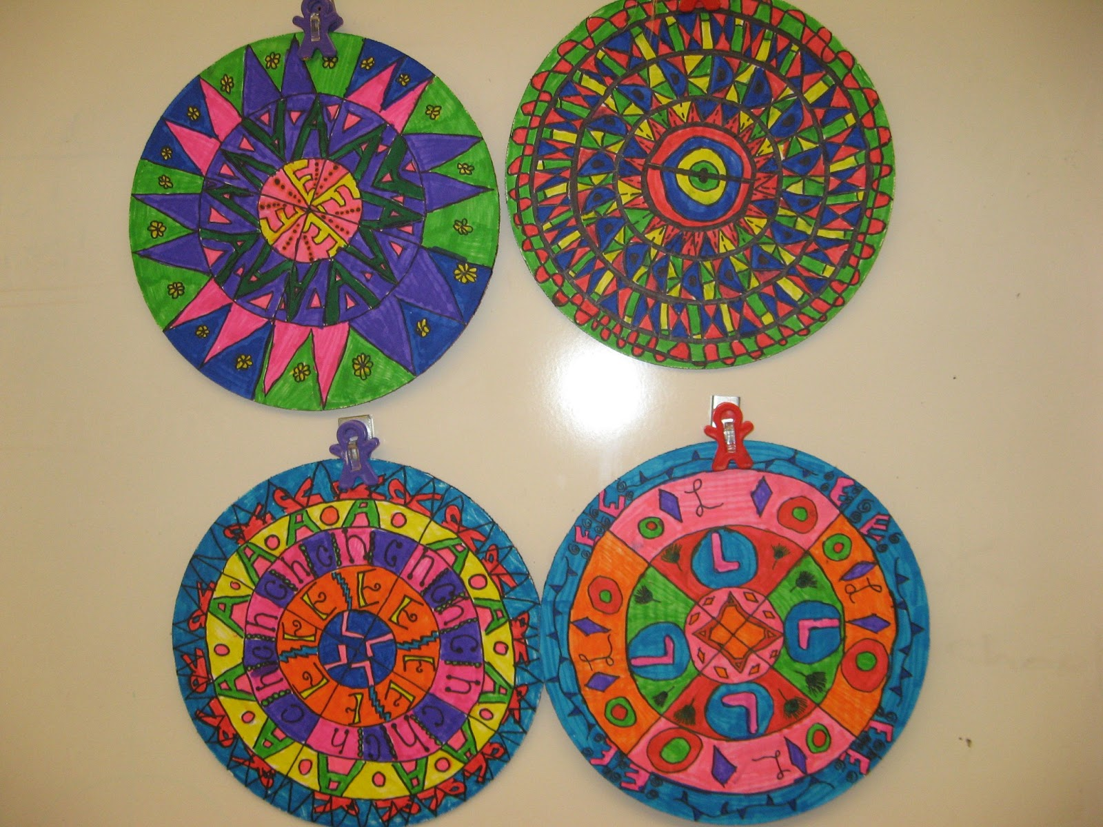Radial Design Art : Jamestown elementary art th grade graphic design