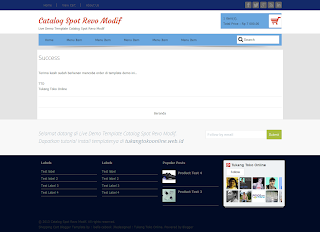 success page catalogspot revo modif