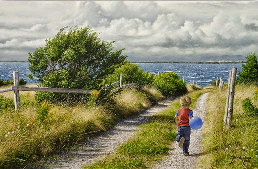 pinturas-paisajes-con-ninos