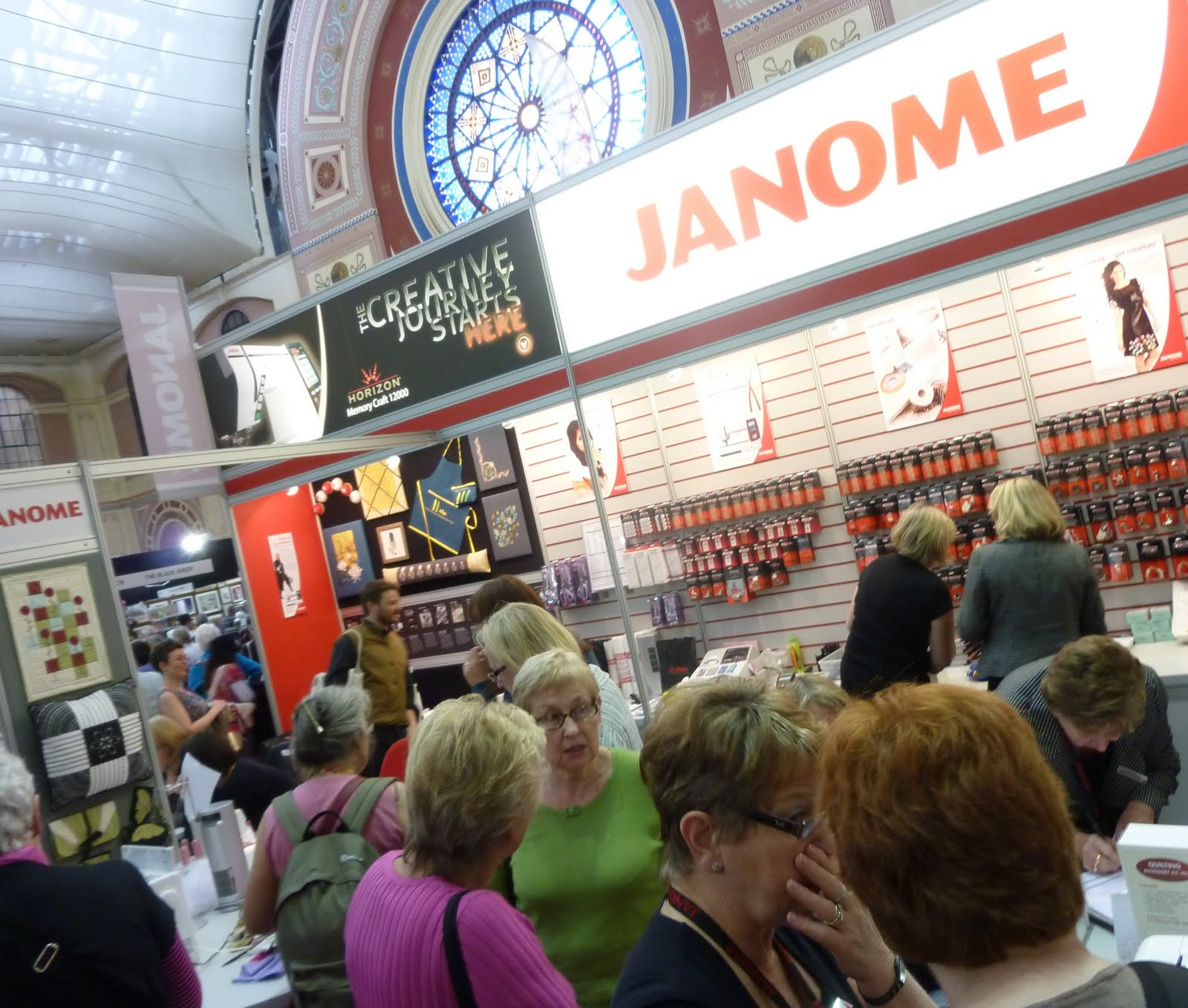 Janome memory craft 12000 - We Had A Wonderful Time At The Knitting And Stitching Show And As You Can See We Were Very Busy Everyone Loved The New Horizon Memory Craft 12000
