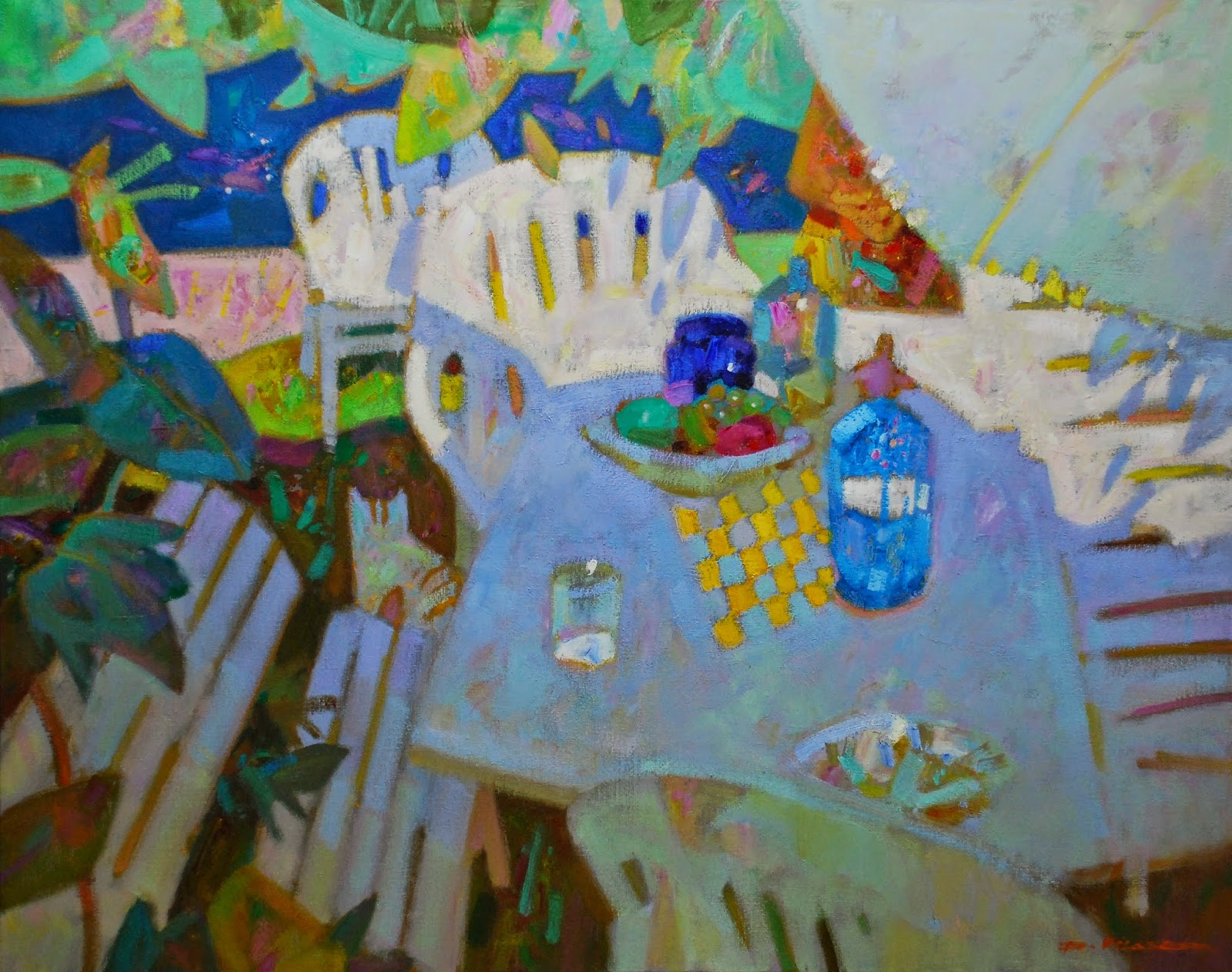 Isidre vilaseca i coll pintor rac de pati amb piscina - Piscinas vilaseca ...
