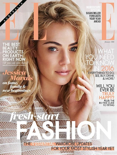 Actress, @ Jessica Marais for Elle Australia, January 2016