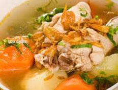 resep masakan indonesia sop ayam spesial praktis, mudah, sedap, gurih, nikmat