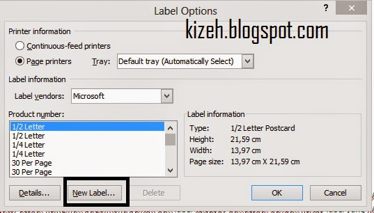 Cara membuat label di microsoft word