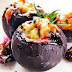 Buraczki faszerowane łososiem, porem i serem