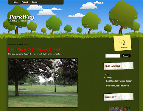 ParkWay Blogger Theme