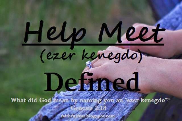 ezer kenegdo in hebrew for the phrase help meet kjv