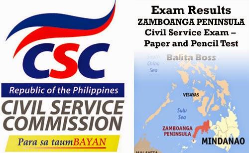 Region 9 - Civil Service Exam Results