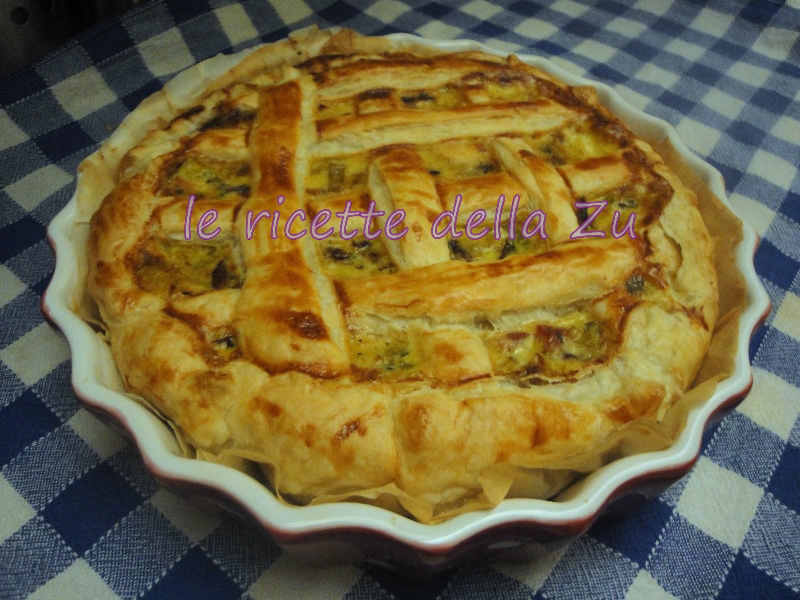 Le ricette della zu torta salata di sfoglia con porri for Torte salate con pasta sfoglia