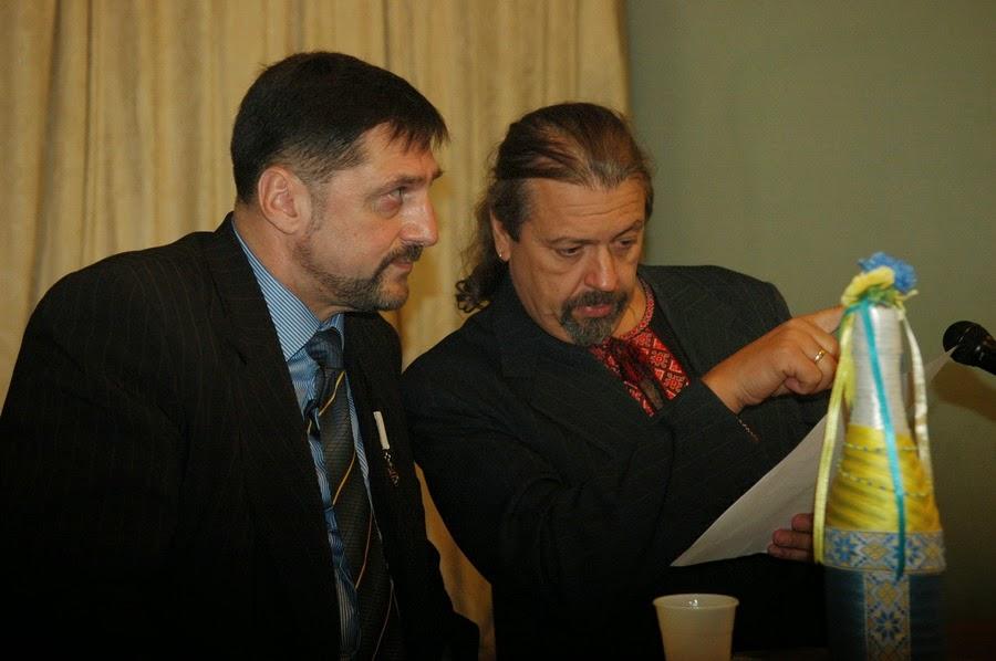 Фото Виталия Бабенко: писатели Пономаренко, Пантюк