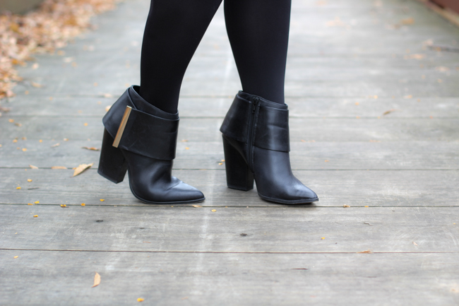 aldo cher low rise black boots