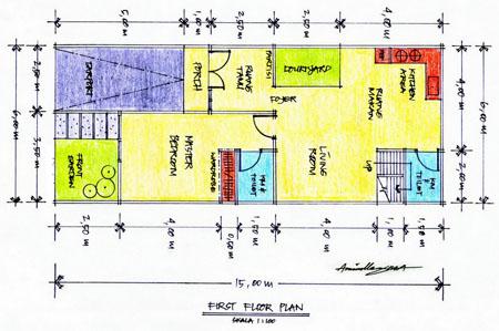 denah rumah minimalis on Denah Rumah Tipe 45 | Artikel Baru