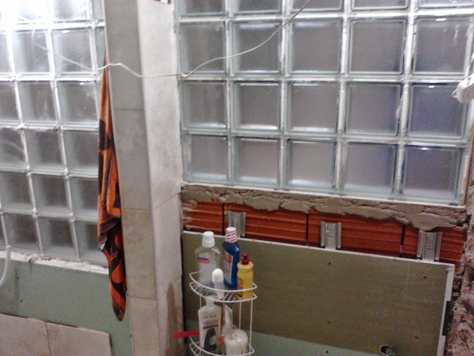 Construcci n del ba o remodelar un ph - Como colocar ladrillos de vidrio ...