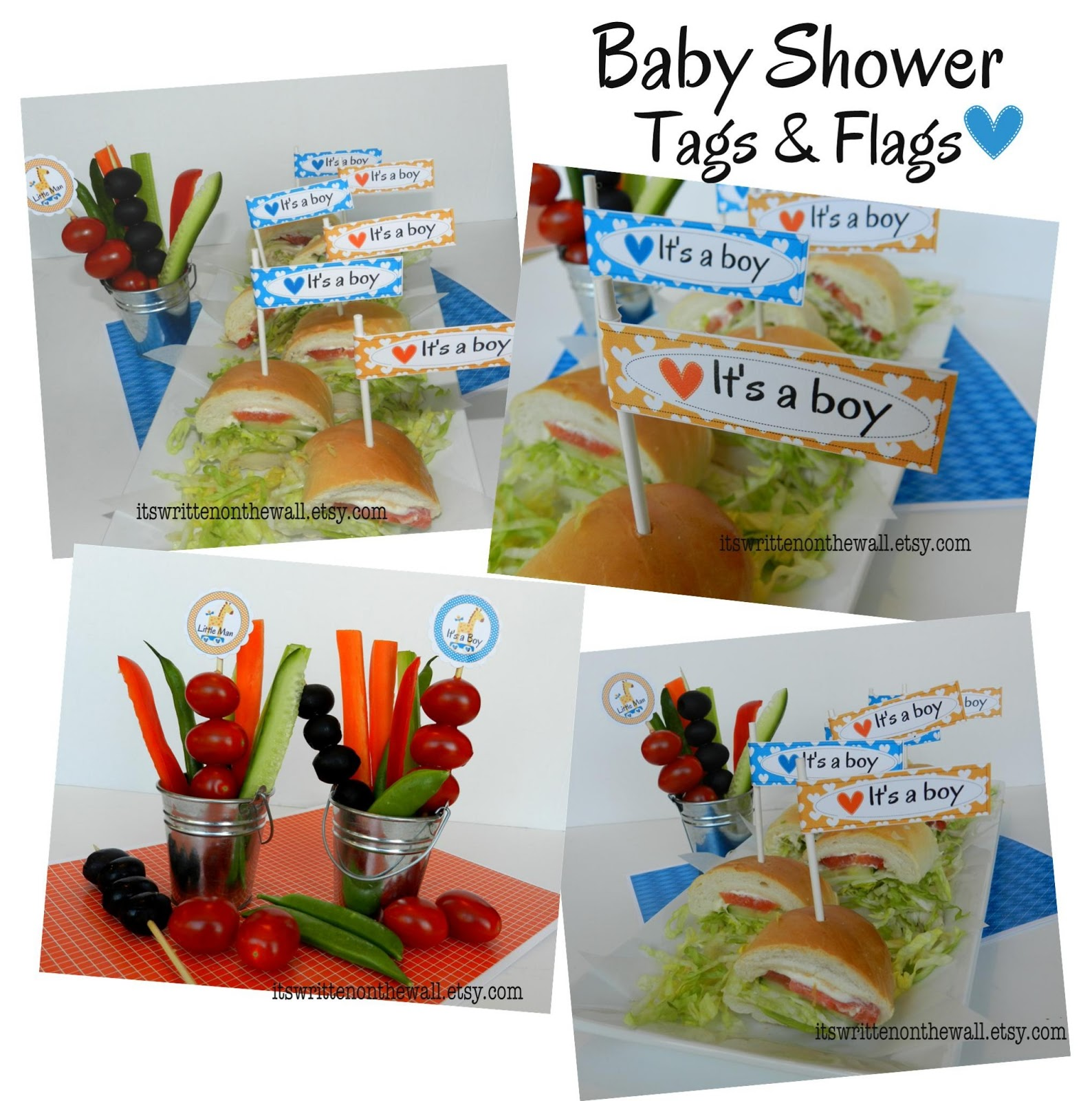 boy baby shower party printables 9 sheets and fun food pinnutty