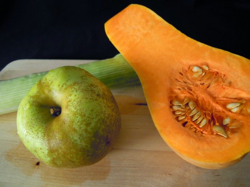 Calabaza con Manzanas