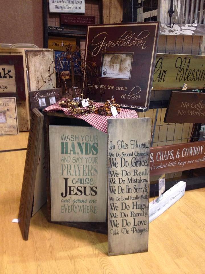 A day in the life at rioak craft show tips from a sign maker for How to display wood signs at craft show