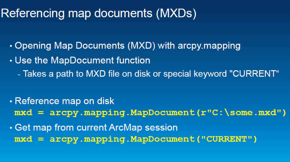 Get Reference to the Current Arcmap