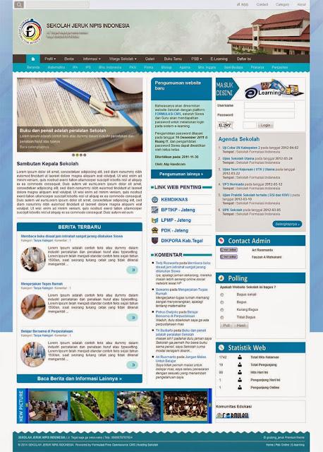 Tema Surat Biru Premium