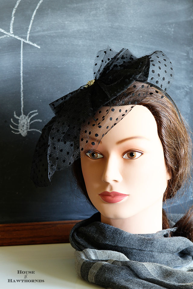 Mannequin head for Halloween found at a thrift store