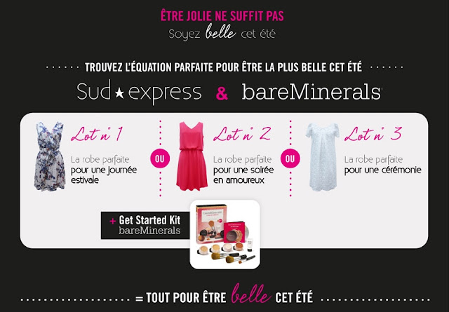 "3 robes Sud Express avec 1 ""Get Started Kit"" bareMinerals"