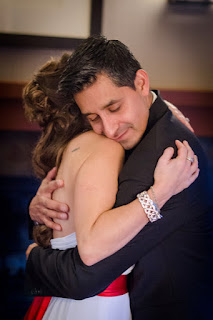 Christian and Katie hug after their wedding ceremony - Patricia Stimac, Seattle Wedding Officiant
