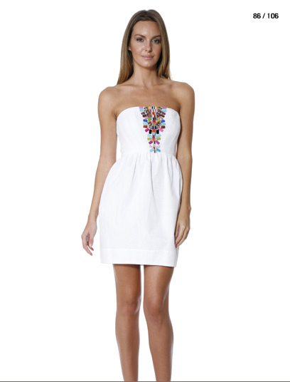 Kristin Cavallari&-39-s white beaded strapless mini dress ...