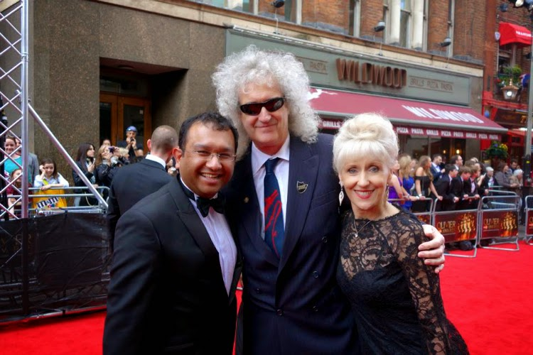 Brian May and Anita Dobson Olivier Awards 2015