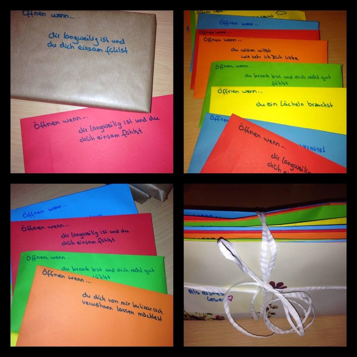 Open When Letters / Öffnen Wenn Briefe (DIY Geschenk)
