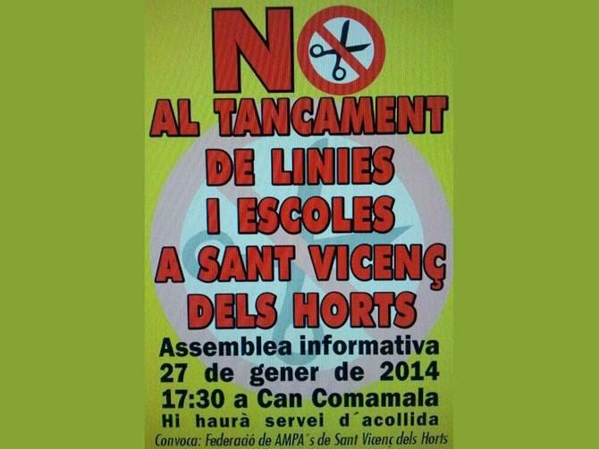 NO AL TANCAMENT!