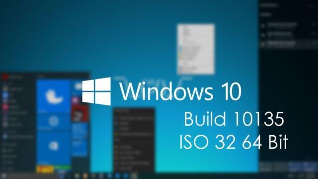 download Windows 10 ISO 32 bit dan 64 Bit build 10135