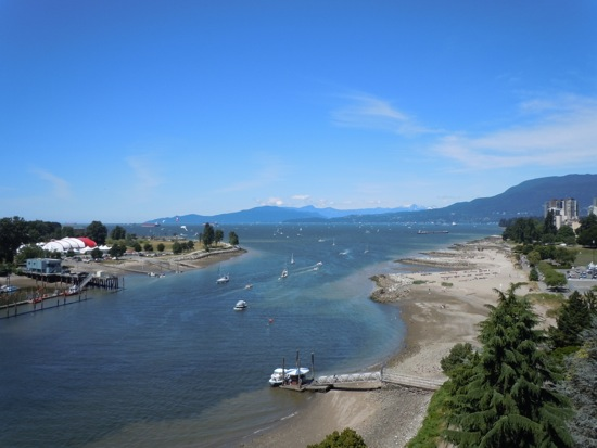 Burrard Bridge view Vancouver