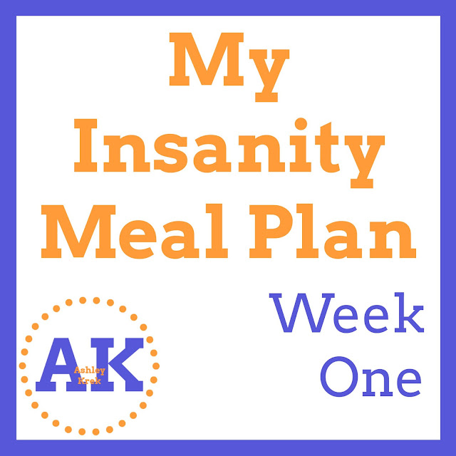 Insanity Meal Plan