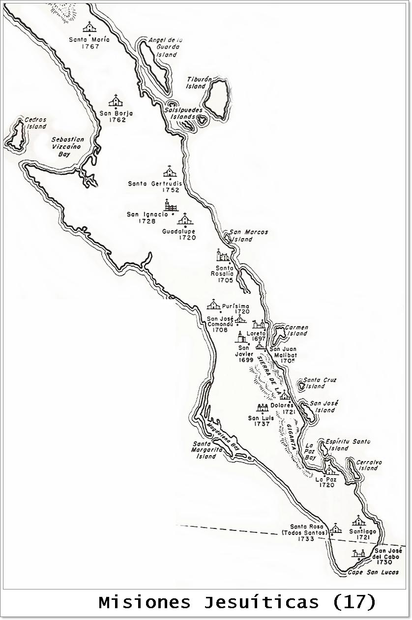Resultado de imagen para misiones jesuitas en baja california